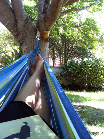 Backyard hammock on a self-care Friday
